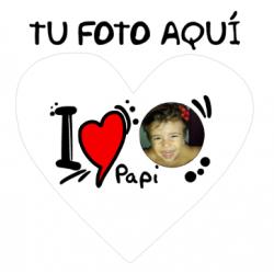 Cojines Personalizados con fotos - I Love Papi