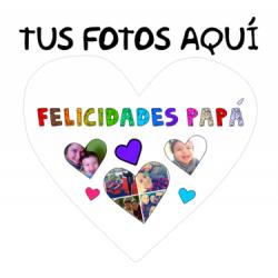 Cojines Personalizados con fotos - Felicidades Papa
