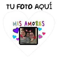 Cojines Personalizados con fotos - Mis Amores