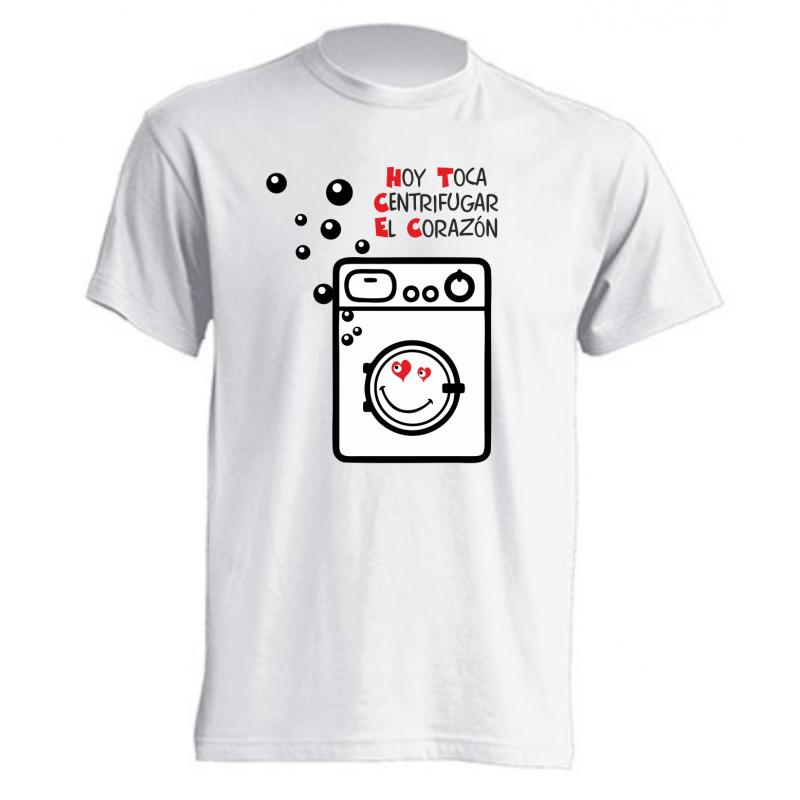 Camiseta Hoy toca centrifugar el corazón