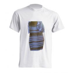 """Camiseta con vestido que supuestamente """"cambia de color"""" :)"""