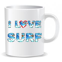 Taza I Love Surf