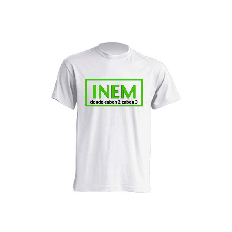 Camiseta INEM Donde Caben 2 Caben 3