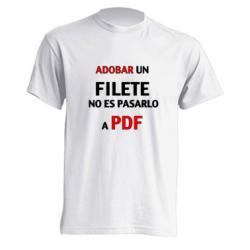 Camiseta Adobar un Filete no es pasarlo a PDF