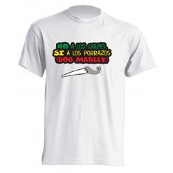 Camisetas No a los Golpes, si a los porrazos. (BOB MARLEY)