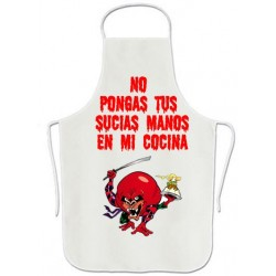 Delantal No pongas tus sucias manos en mi cocina
