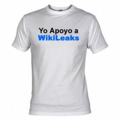 Camiseta Yo apoyo a Wikileaks